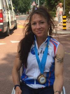Silke Pan, marraine de la manifestation, a remporté la victoire en catégorie WH4